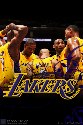 lakers wallpaper. Lakers 2009 WCF iPhone