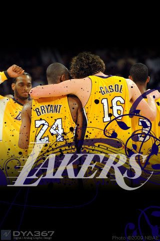 Lakers 2009 WCF iPhone wallpaper