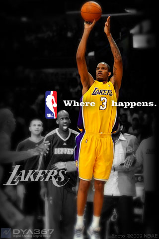 Lakers 2009 Where Ariza Happens iPhone wallpaper